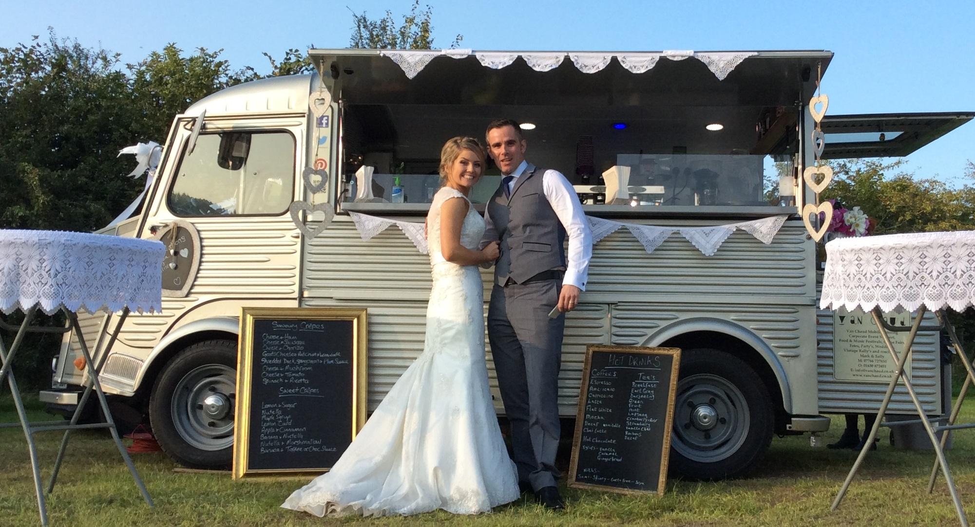 Van Chaud at Hafod Farm Weddings in Snowdonia