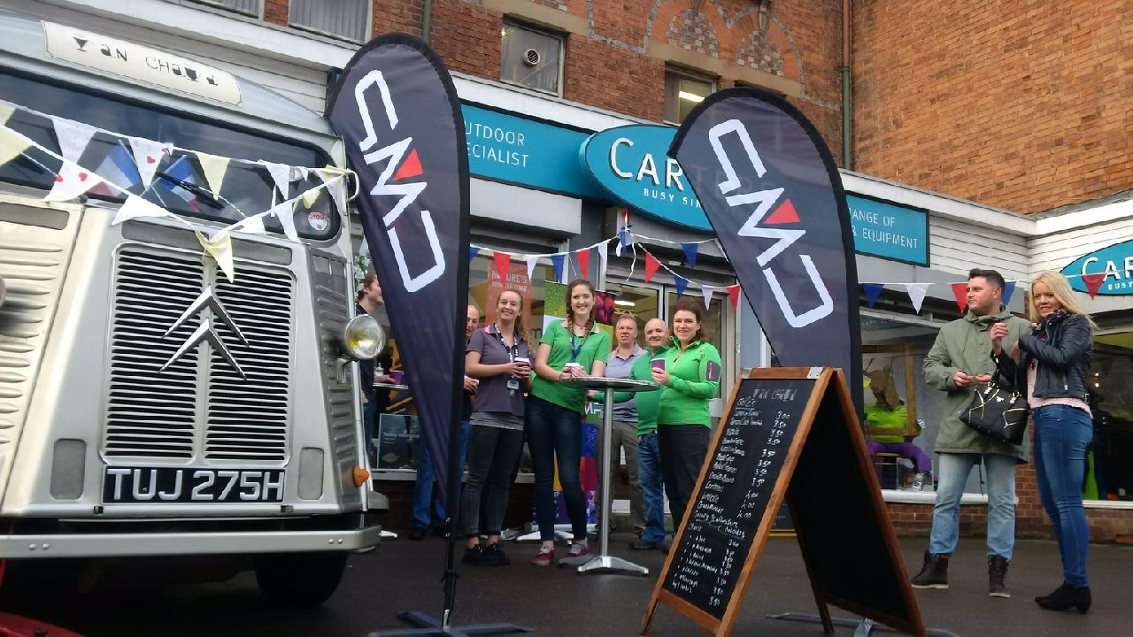 Corporate event at Carters ski shop in Reading
