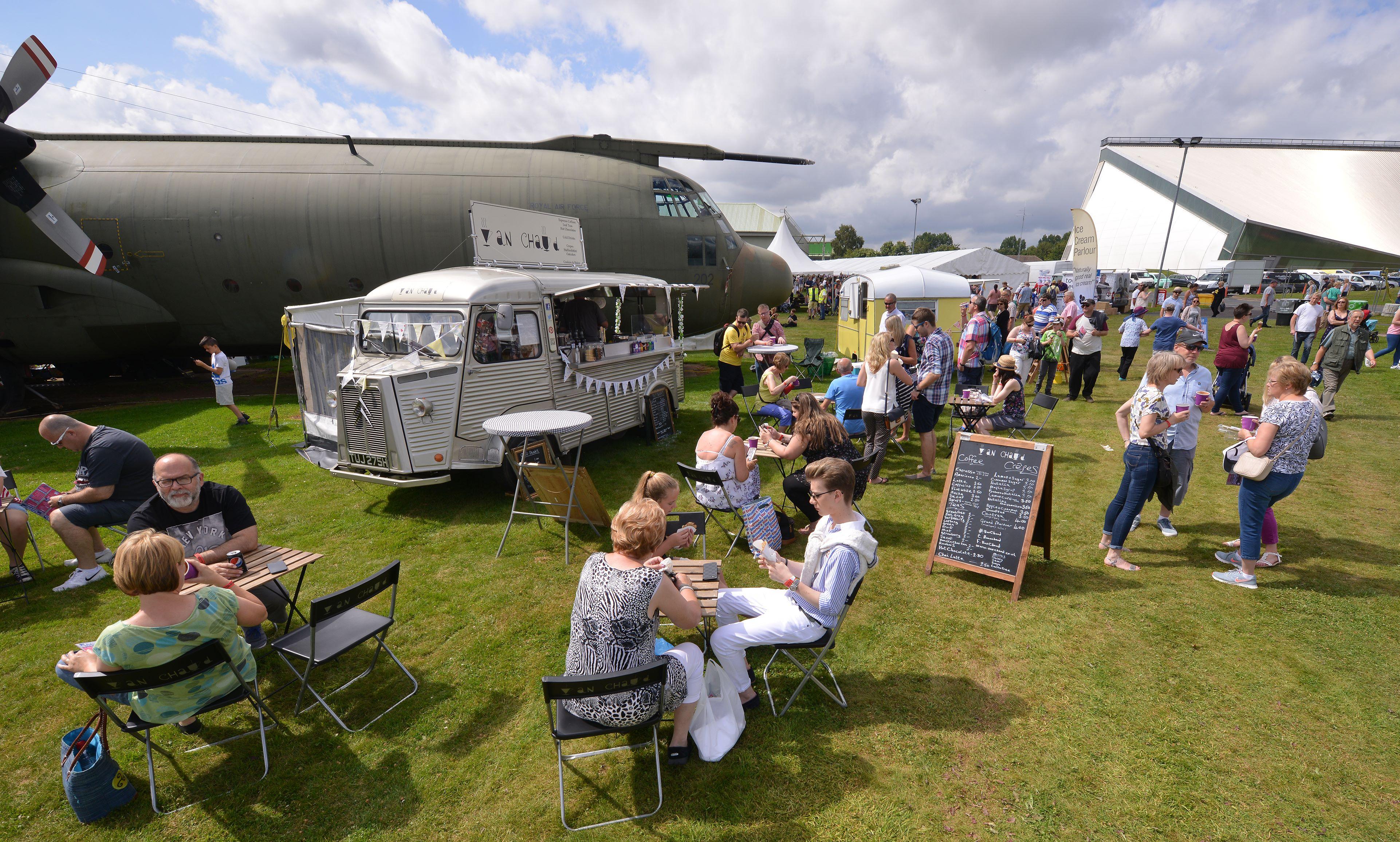Van Chaud at RAF Cosford Food festival 2016
