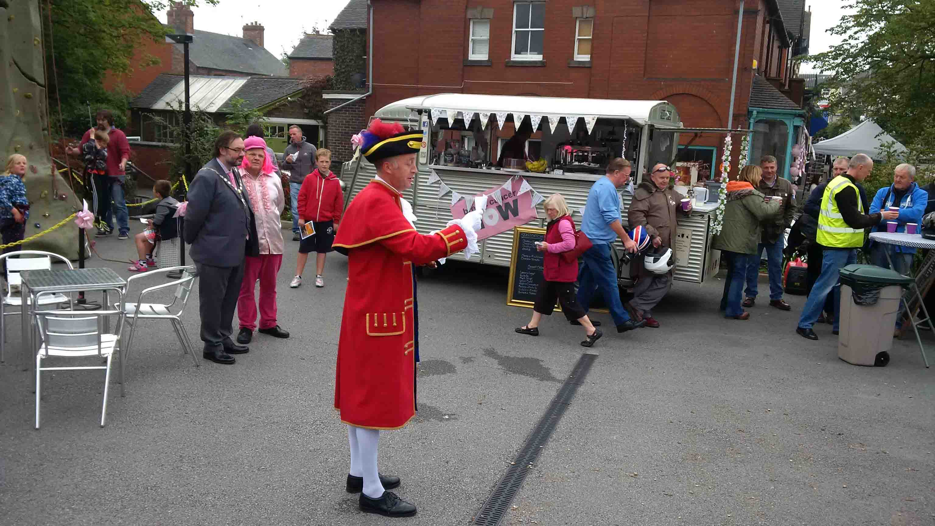 Town Cryer in Audley Staffordshire